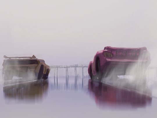 Cars 3: un concept art del film