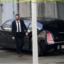 Wolverine 3: Hugh Jackman durante un ciak