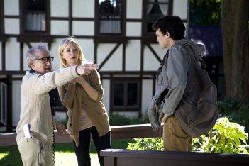 Blue Jasmine: Woody Allen, Cate Blanchett e Alden Ehrenreich sul set