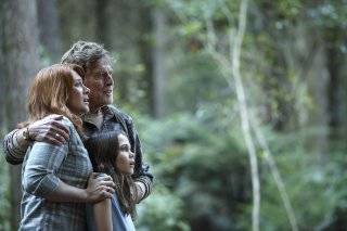 Pete's Dragon: Robert Redford, Bryce Dallas Howard e Oona Laurence in una scena del film