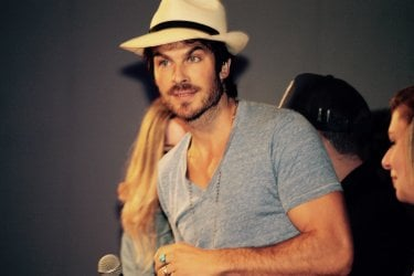 The Vampire Diaries: Ian Somerhalder, Damon in The Vampire Diaries, alla Love and Blood convention