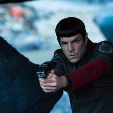 Star Trek Beyond: Zachary Quinto in un momento del film