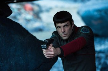 Star Trek Beyond: Zachary Quinto in un momento del film