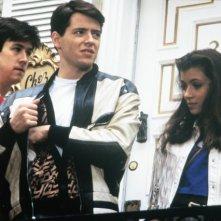 Una pazza giornata di vacanza: Matthew Broderick, Mia Sara ed Alan Ruck in una scena