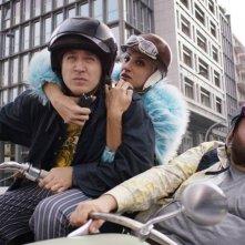 Solo per il weekend: Alessandro Roja, Francesca Inaudi e Stefano Fresi in una scena del film