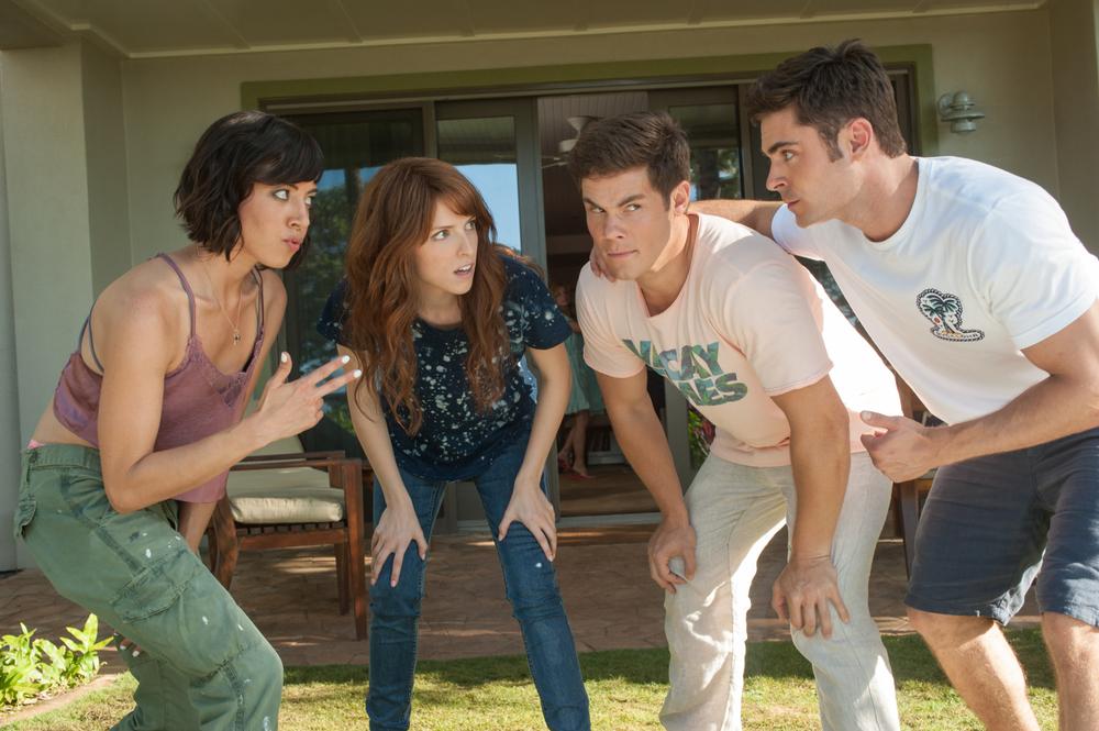 Mike & Dave: Un matrimonio da sballo, Anna Kendrick, Aubrey Plaza, Adam DeVine e Zac Efron in un momento del film