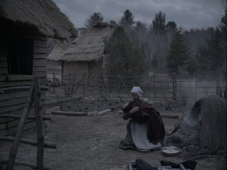 The Witch: Kate Dickie in una scena del film