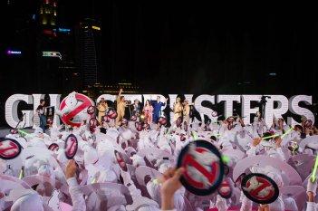 Ghostbusters: un'immagine del raduno di fantasmi