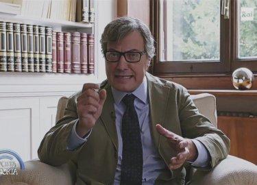 Dov'è Mario?: Corrado Guzzanti nei panni di Mario Bambea, in un'apparizione televisiva