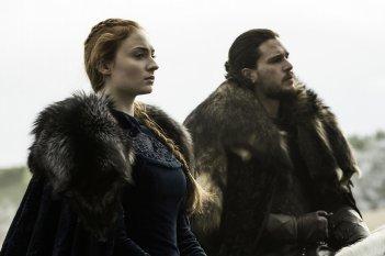 Il Trono di Spade: Sansa e Jon Snow in un momento prima della battaglia di Battle of the Bastards