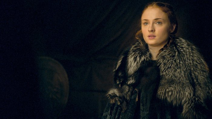 Il Trono di Spade: l'attrice Sophie Turner interpreta Sansa in Battle of the Bastards