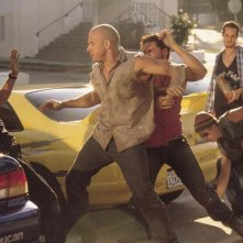 The Fast and the Furious: Vin Diesel e Paul Walker in un momento di tensione fra loro