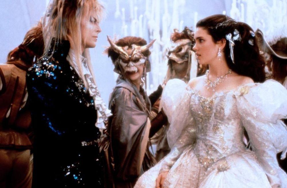 Labyrinth - Dove tutto è possibile: David Bowie e Jennifer Connelly in una scena del film