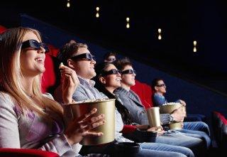 Immagine di spettatori al cinema