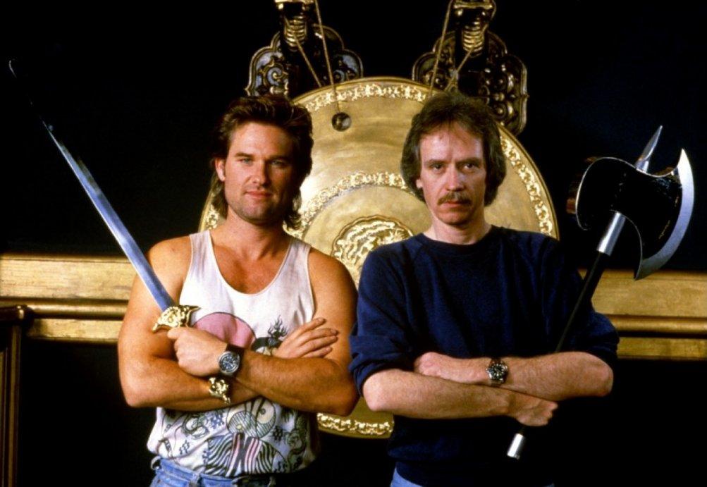 Grosso guaio a Chinatown: Kurt Russell e il regista John Carpenter in un'immagine promozionale
