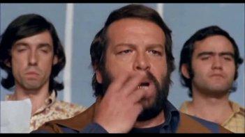 Altrimenti ci arrabbiamo: Bud Spencer in una celebre scena del film