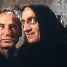 Mel Brooks con Marty Feldman sul set di Frankenstein jr.