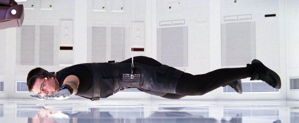 Mission: Impossible, Tom Cruise in un momento di tensione del film