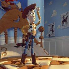 Toy Story: un'immagine di Woody tratta dal film
