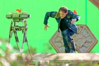 Star Trek Beyond: Anton Yelchin durante le riprese