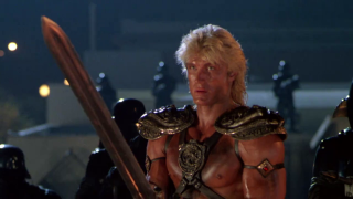 I dominatori dell'universo: Dolph Lundgren in una scena del film