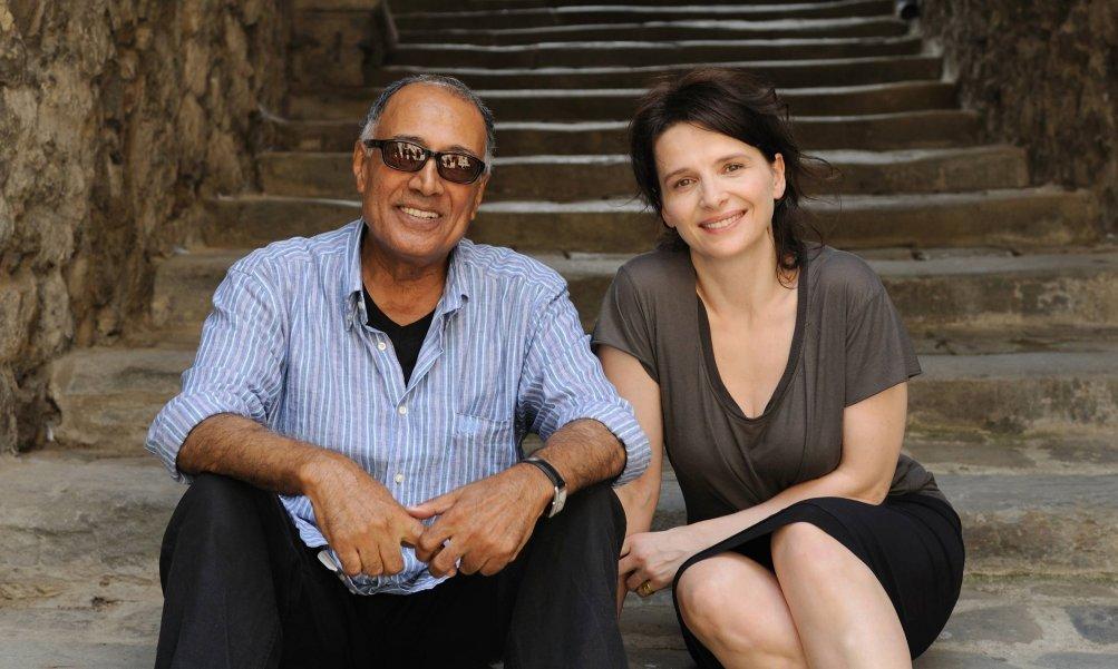 Kiarostami sul set di Copia Conforme con Juliette Binoche