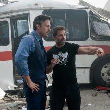 Batman v Superman: Dawn of Justice, Ben Affleck insieme al regista Zack Snyder sul set del film