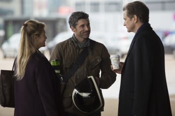 Bridget Jones's Baby: Renée Zellweger, Colin Firth e Patrick Dempsey in una scena del film