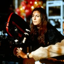 Kathryn Bigelow sul set di Strange Days