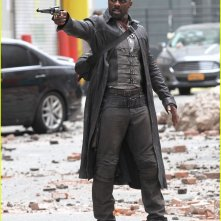 The Dark Tower: Idris Elba durante le riprese