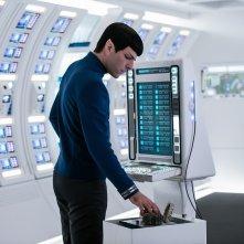 Star Trek Beyond: Zachary Quinto in un'inquadratura del film