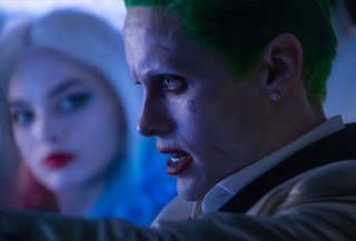 Suicide Squad: Margot Robbie e Jared Leto in una scena del film