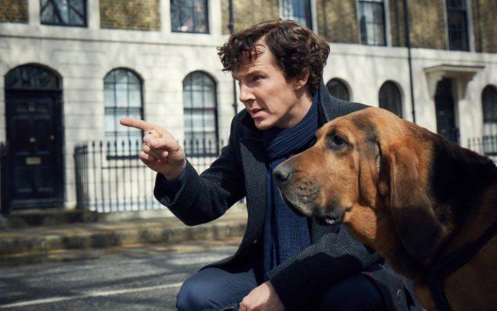 Sherlock: Benedict Cumberbatch in una foto della quarta stagione