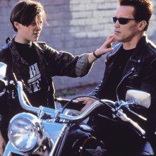 Terminator 2: Edward Furlong e Arnold Schwarznegger