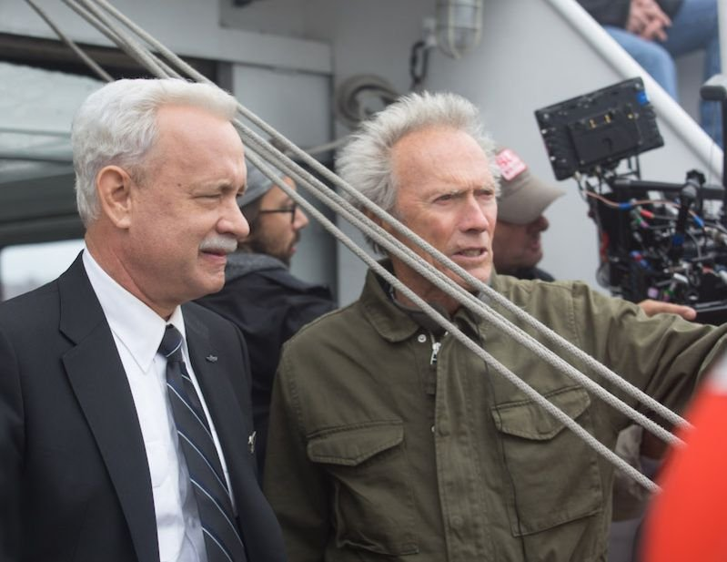 Sully: Tom Hanks e Clint Eastwood sul set