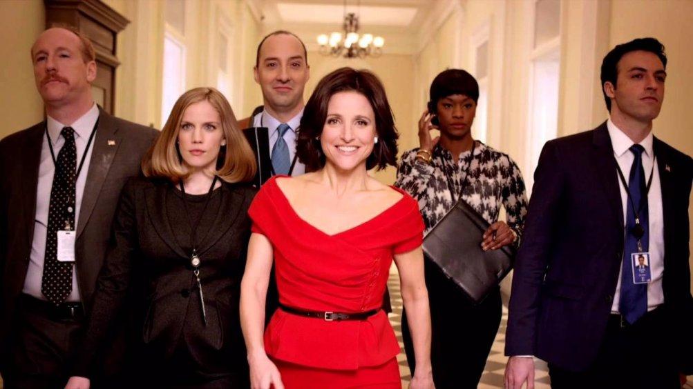 Veep: un'immagine del cast durante un momento della quinta stagione