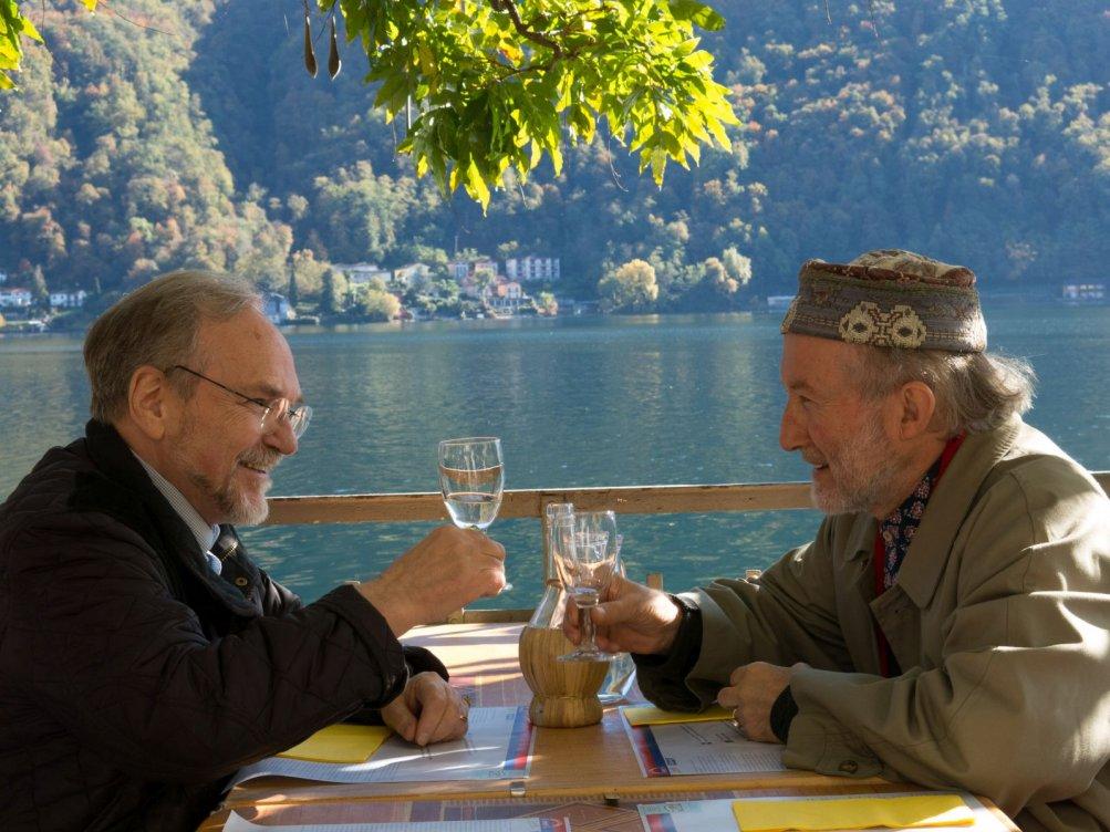 Il fiume ha sempre ragione: un'immagine che ritrae Josef Weiss e Alberto Casiraghy