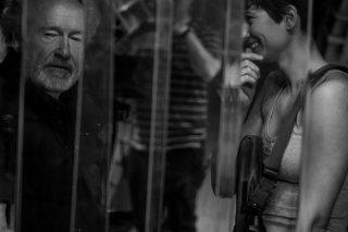 Alien: Covenant - Ridley Scott e Katherine Waterston sul set