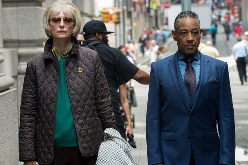 Okja: Tilda Swinton e Giancarlo Esposito sul set a new York