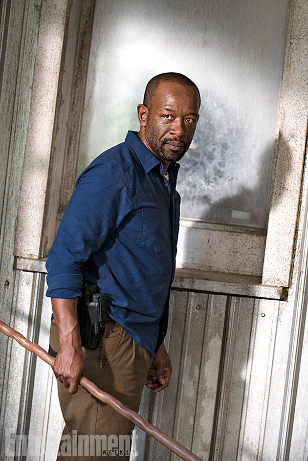 The Walking Dead: Lennie James in una scena della stagione 7