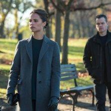 Jason Bourne: Alicia Vikander e Matt Damon in una scena del film