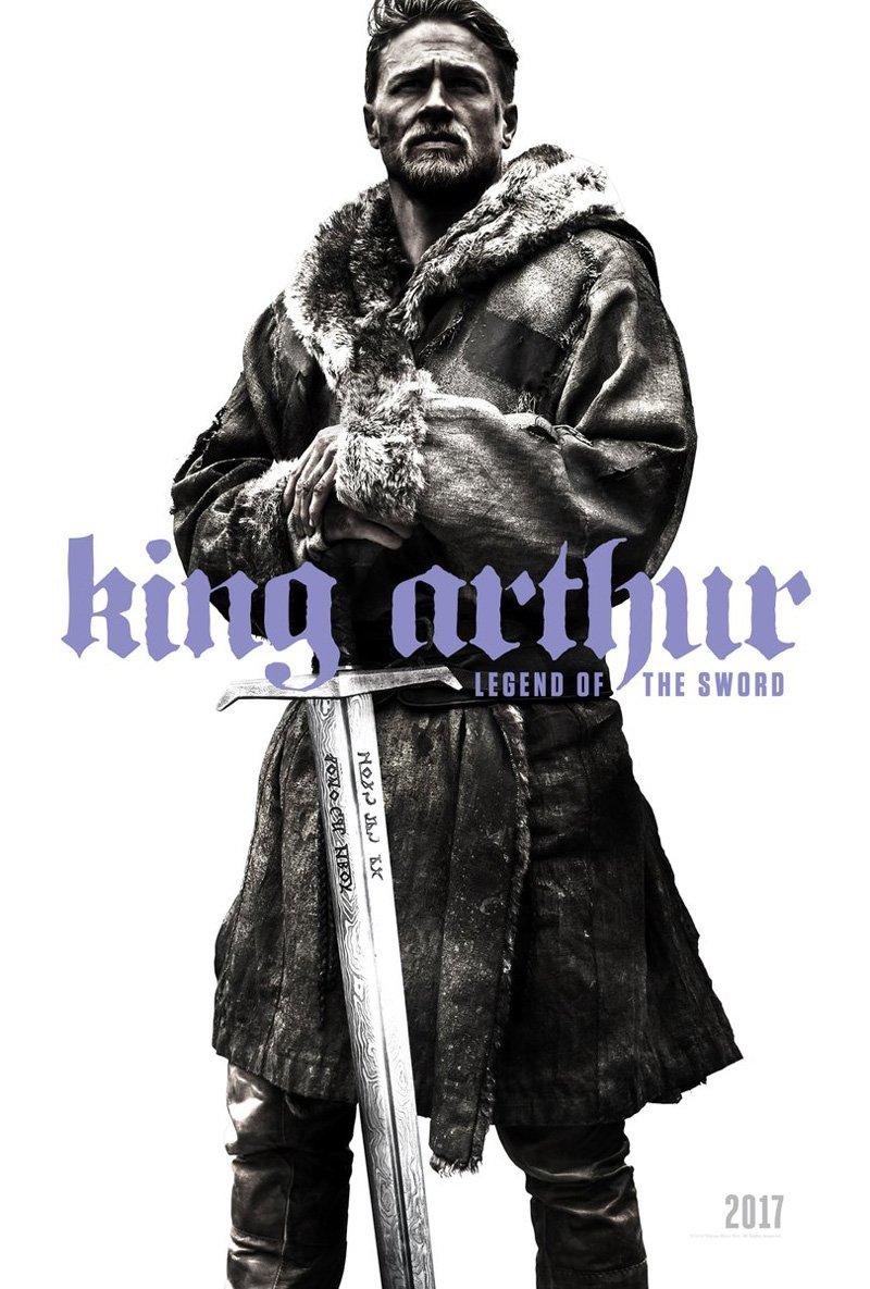 King Arthur: la locandina del film con Charlie Hunnam