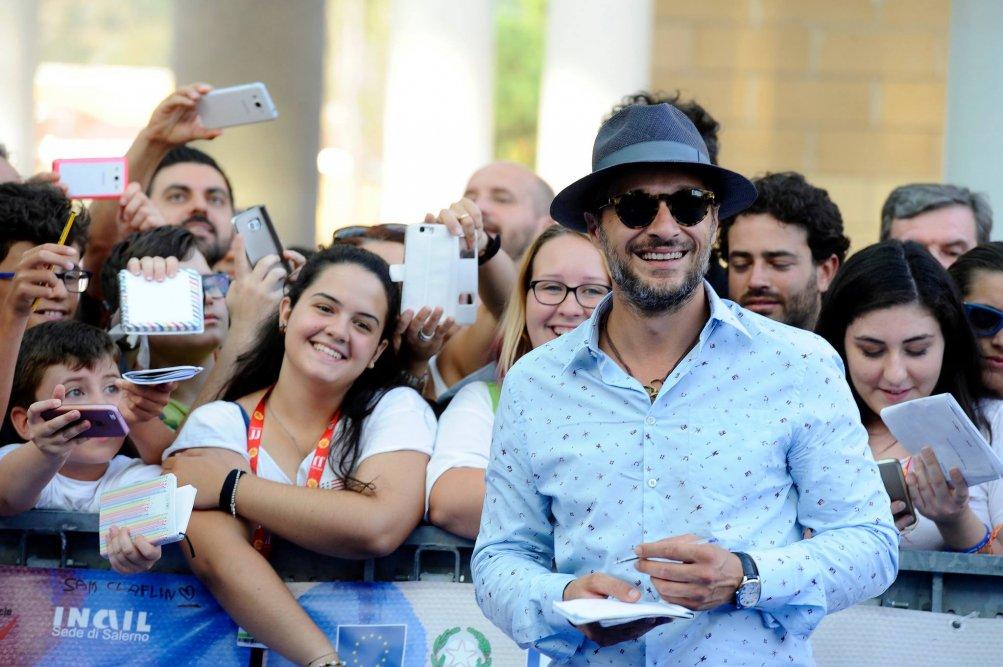 Claudio Santamaria coi ragazzi di Giffoni 2016