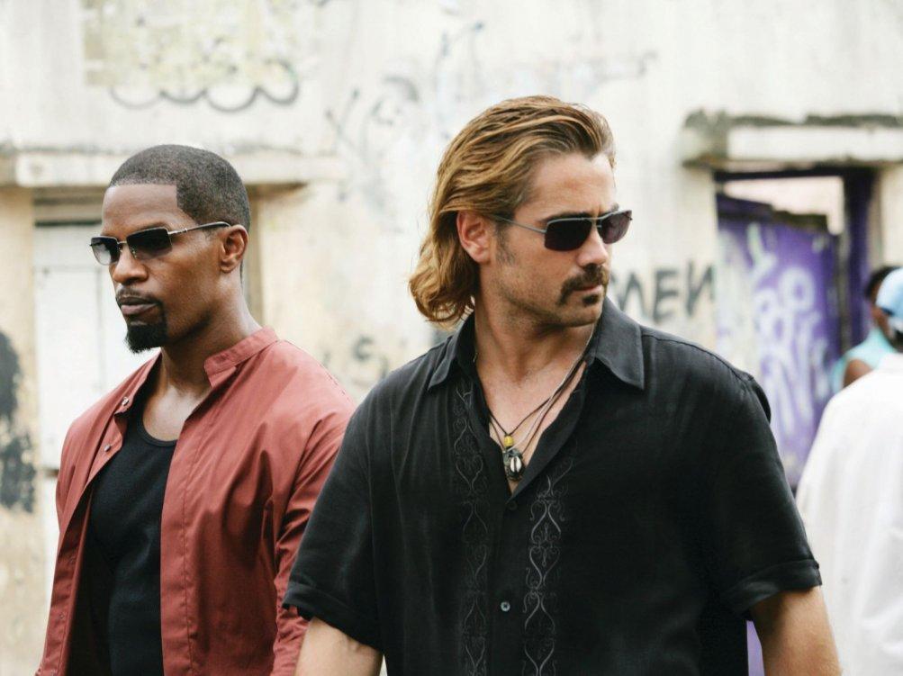 Jamie Foxx e Colin Farrell in una scena del film Miami Vice
