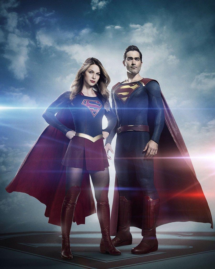 Supergirl: Melissa Benoist e Tyler Hoechlin in una foto promozionale