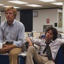 Tutti gli uomini del presidente: una scena con Robert Redford e Dustin Hoffman
