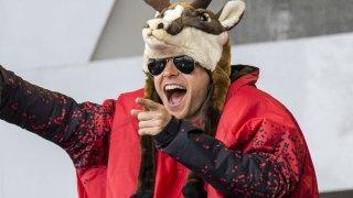Jared Leto con un curioso abbigliamento