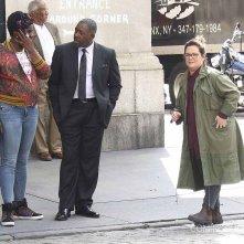 Ghostbusters: Ernie Hudson sul set con Leslie Jones e Melissa McCarthy