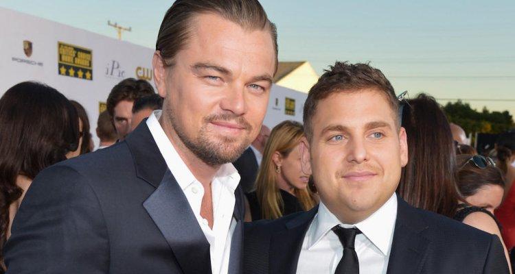 Leonardo DiCaprio e Jonah Hill, incontro con scherzo per i due attori