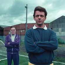Il maledetto United: Michael Sheen in un momento del film